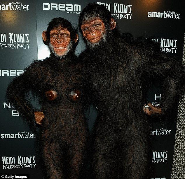 Heidi Klum as an Ape