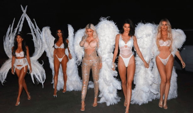 The KarJenners as Victoria's Secret Angels